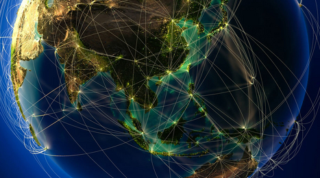 World Airline Route Map