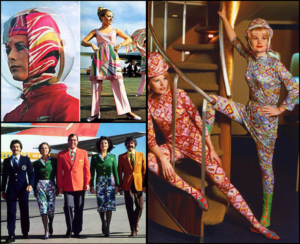Emilio Pucci Inspired Braniff Flight Attendants