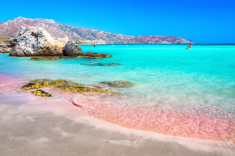 Turquoise Water and Pink Sand in Elafonisi Beach Crete