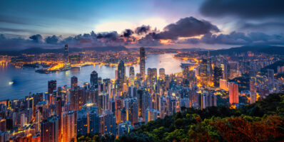 Hong Kong Skyline From Atop Victoria's Peak
