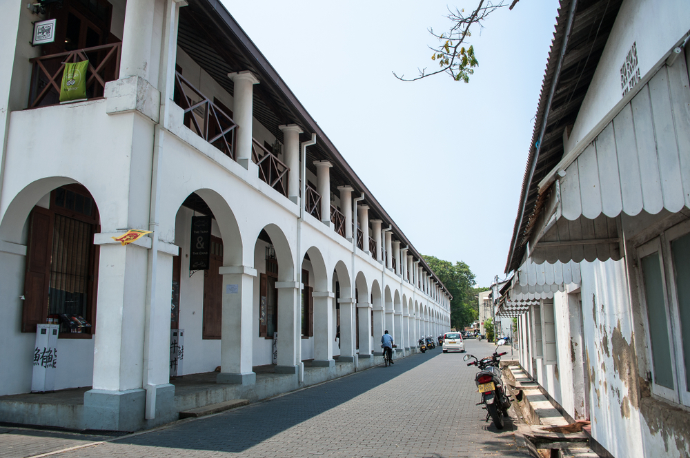 The old Dutch Hospital now offers food and shopping in a Dutch Colonial building setting