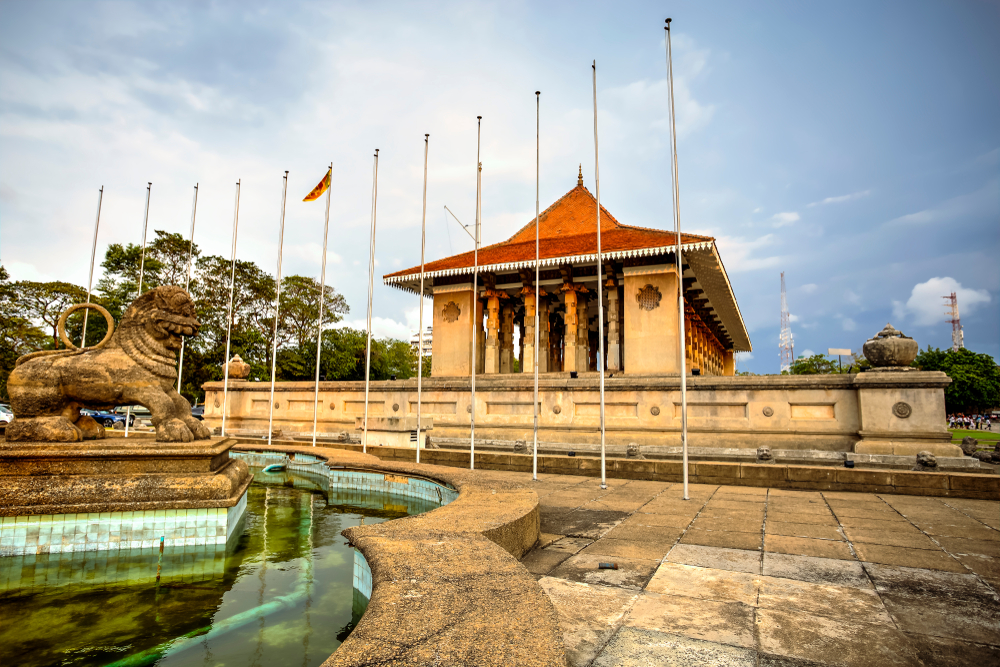 Independence Memorial Hall in Colombo, the capital of Sri Lanka