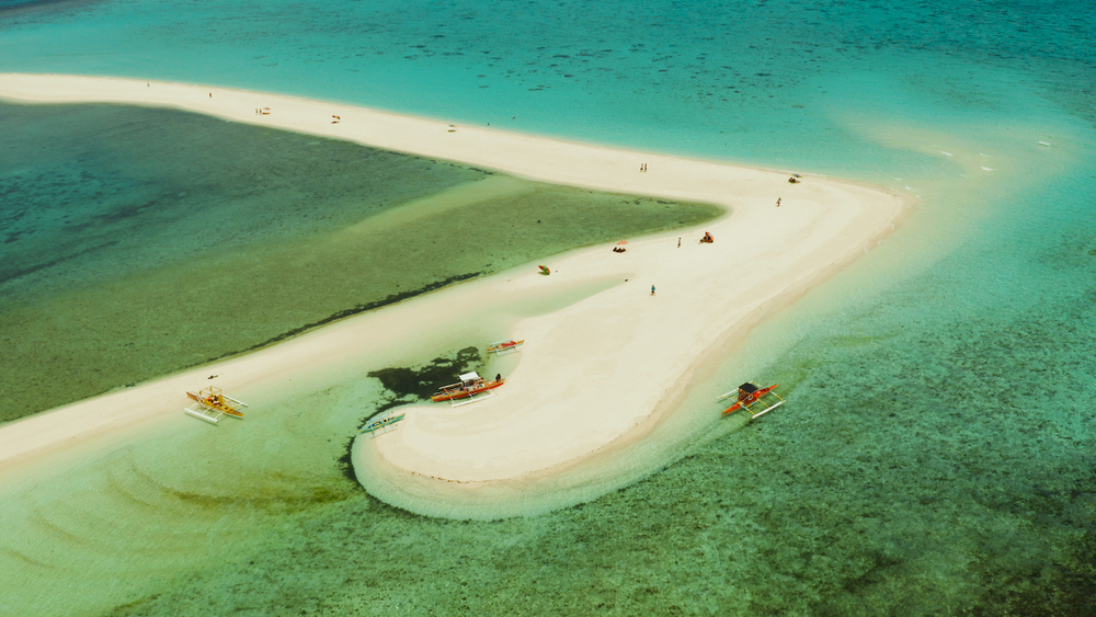 The ever-changing White Island located in Camiguin, Philippines